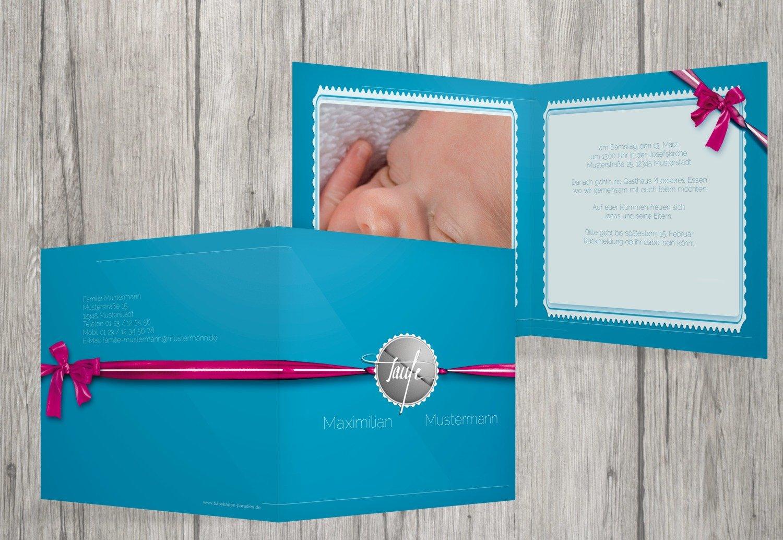 Kartenparadies Einladungskarte Taufeinladung Taufkarte Ribbon, hochwertige hochwertige hochwertige Einladung zur Taufe inklusive Umschläge   10 Karten - (Format  145x145 mm) Farbe  Rosalila B01NAYXRGM   Outlet    Deutschland    Feine Verarbeitung  e49c9c