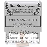 20 Designs to Choose!! Personalized - Address Stamp - Customized Stamp - Self-Inking Return Address Mail 3 Lines Custom Addre
