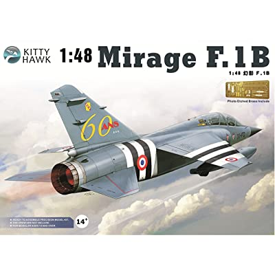Kitty Hawk KH80112 1:48 Mirage F.1B Model KIT: Toys & Games