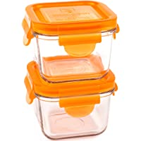 Wean Green 2-Pack Snack Cubes Glass Food Containers