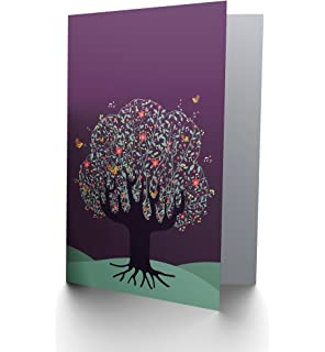 Decorative skull day of the dead greetings card cp1130 amazon tree birds music notes purple sky blank greetings birthday card art cp085 m4hsunfo