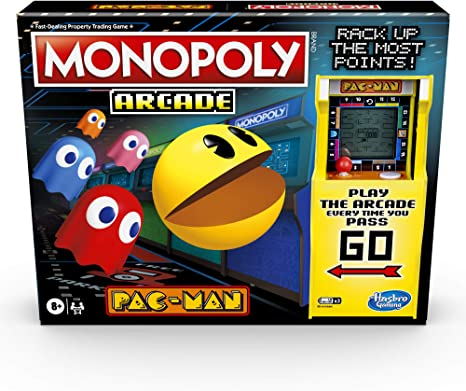 Amazon.es: Monopoly Arcade Pac-Man Game; Juego de Mesa Monopoly para niños Mayores de 8 años; Incluye Unidad bancaria y Arcade