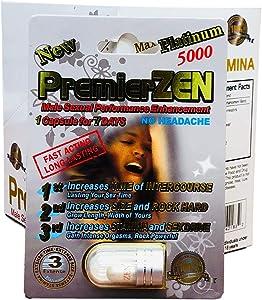 PremierZen Platinum 5000 Male Sexual Performance Enhancing Pill (6 Pill)