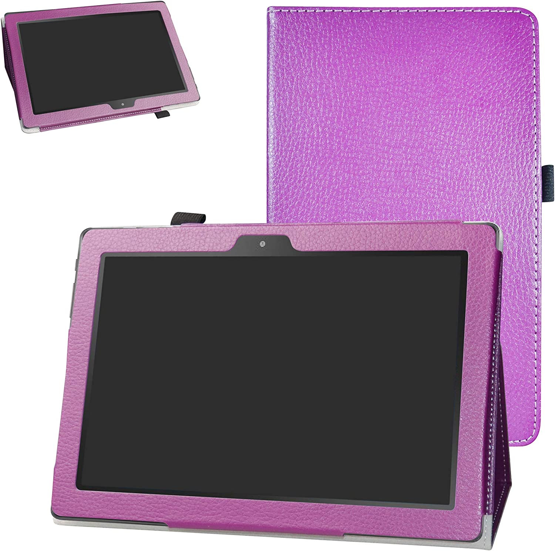 "Digiland DL1023 10.1 Tablet Case,Digiland DL1016 10.1 Tablet Case,Bige PU Leather Folio 2-Folding Stand Cover for 10.1"" Digiland DL1016 /DL1018A /DL1023 Tablet,Purple"
