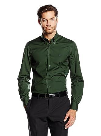 2515362971d1  Versace 1969 Abbigliamento Sportivo SRL Shirt Men dark green 39 cm (15.5   quot . Roll over image to zoom in