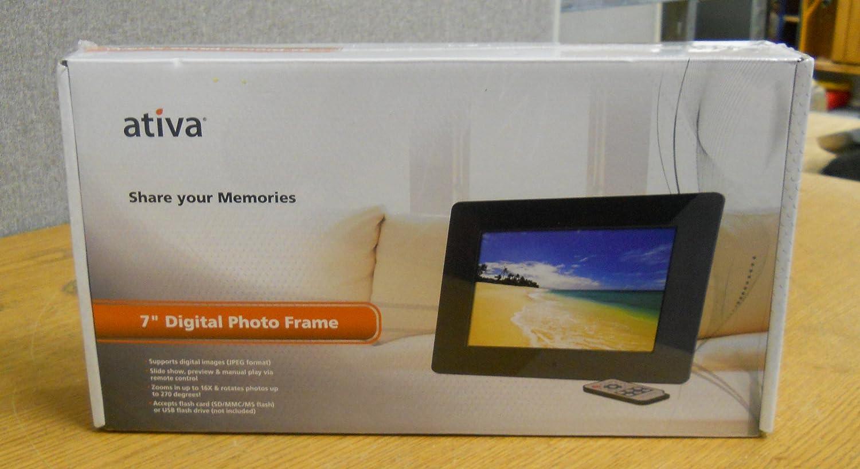 Amazon.com : Ativa 7 Digital Photo Frame : Digital Picture Frames ...
