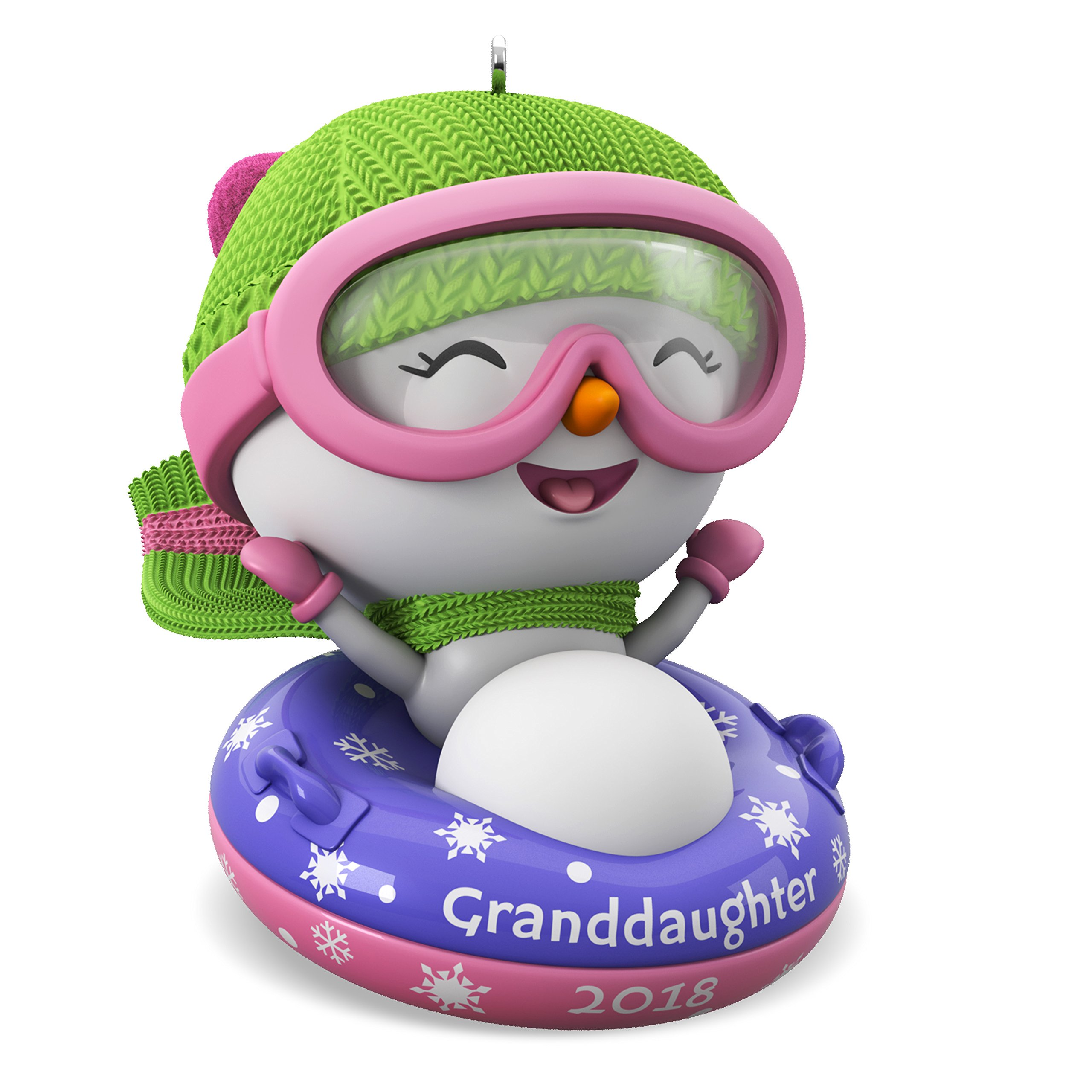 Hallmark Keepsake Christmas Ornament 2018 Year Dated, Granddaughter Snowman by Hallmark