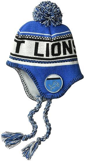 designer fashion 3de92 df8b5 Outerstuff NFL Toddler Tassel Knit with Pom Hat-Lion Blue-1 Size, Detroit
