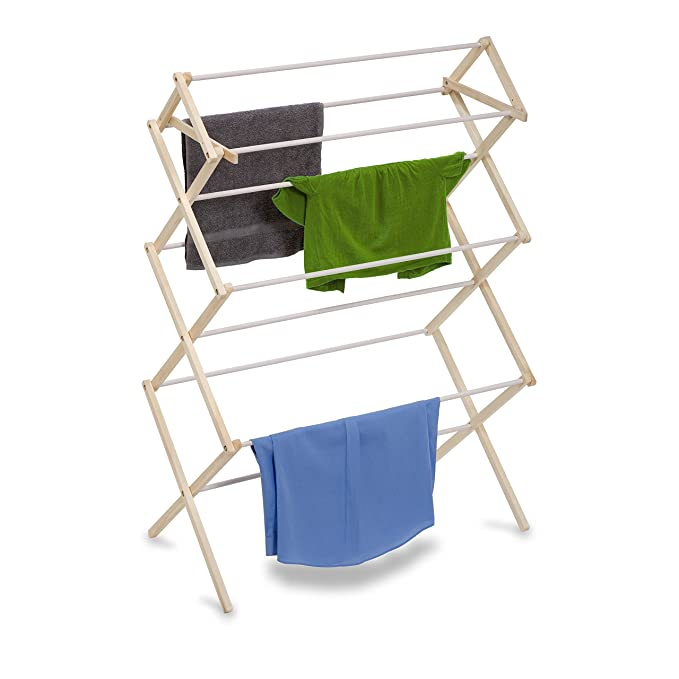 Amazon.com: Honey-Can-Do DRY-01174 Indoor Clothes Drying Rack, Wood: Home & Kitchen