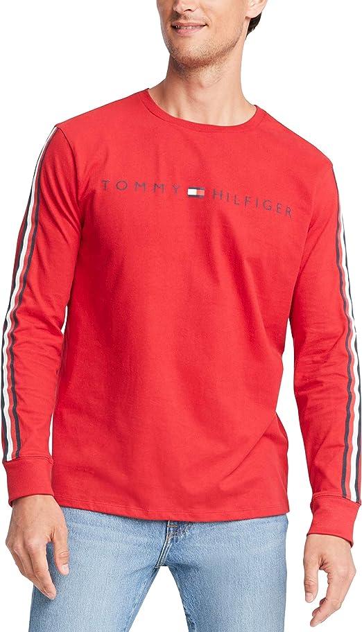 Tommy Hilfiger - Camiseta de manga larga de algodón para hombre ...