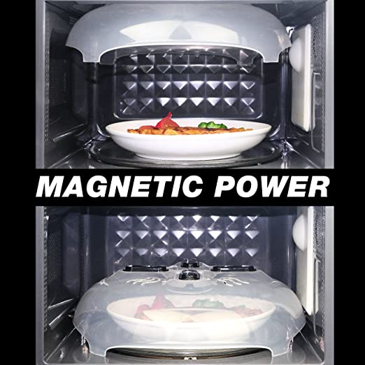 Amazon.com: ELWEY Magnetic Microwave Splatter Cover, Microwave Food Plate Guard Cover Lid with Steam Vents 11 Inch: Kitchen & Dining