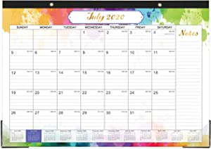 "Desk Calendar 2020-2021 - 18 Months Desk Calendar, 17"" x 12"", Monthly Desk or Wall Calendar, July 2020 - December 2021, Large Ruled Blocks Perfect for Planning and Organizing for Home or Office"