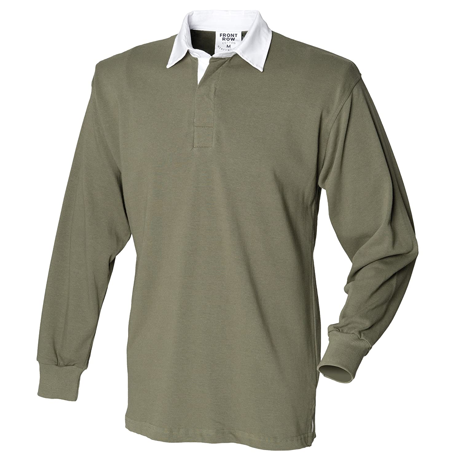 Front Row Mens Long Sleeve Classic Style Rugby Shirt wHAu7Bz