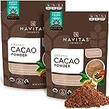 Navitas Organics Cacao Powder, 16 oz. Bags (Pack of 2) — Organic, Non-GMO, Fair Trade, Gluten-Free (19-002)