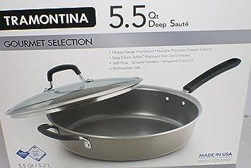 Tramontina 5,5 qt de profundidad sartén utensilios de cocina se ...
