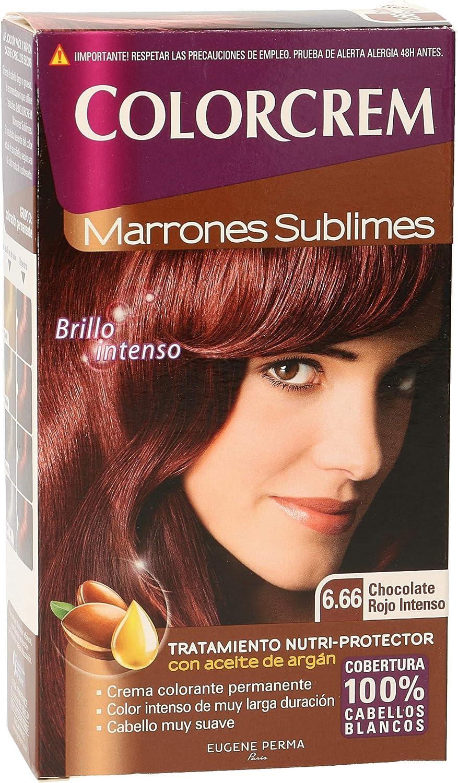 COLORCREM tinte Chocolate Rojo Intenso Nº 6.66 caja 1 ud ...