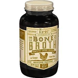 EPIC Artisanal Bone Broth, Homestyle Savory Chicken, Whole 30, 14 oz. (6 Pack)