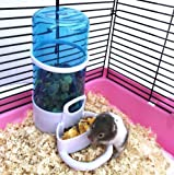 Automatic Pet Feeder, Hamster Bird Small Animal FeedingFood Dispenser With Holder By Cydnlive