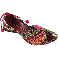Shree Women's PVC Rajasthani Jaipuri Ethnic Belly Shoes