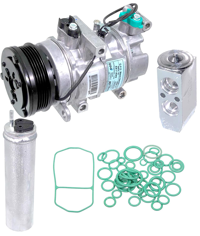 apdty 133832 AC aire acondicionado Compresor Kit w/reeciever secador, válvula de expansión, & Juntas ORing para 2004 - 2009 Mazda 3 L o 2.3L 2009 Mazda 3 ...