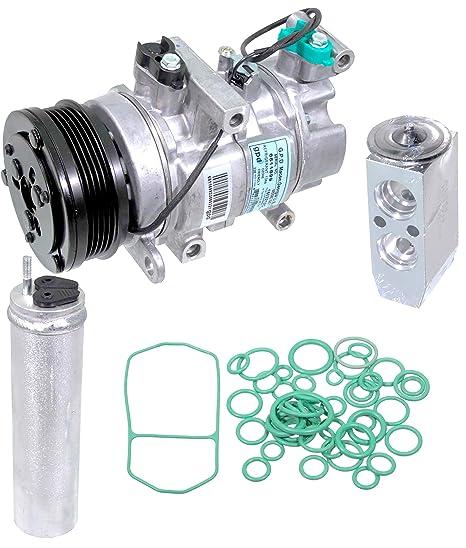 apdty 133832 AC aire acondicionado Compresor Kit w/reeciever secador, válvula de expansión,