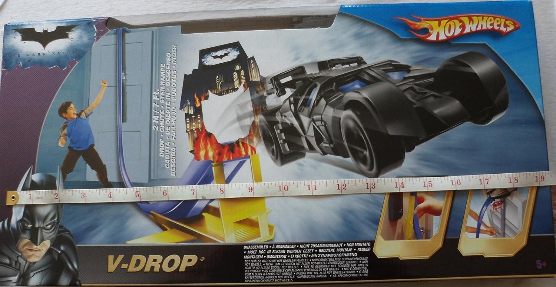 Hot Wheels Batman Dark Knight VDrop Track Set  Includes Batmobile  Made by Mattel in 2008