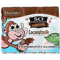So Delicious Coconut Milk - Chocolate Organic Dairy Free - 6pk - Case Of 3 - 6/8 Fl Oz