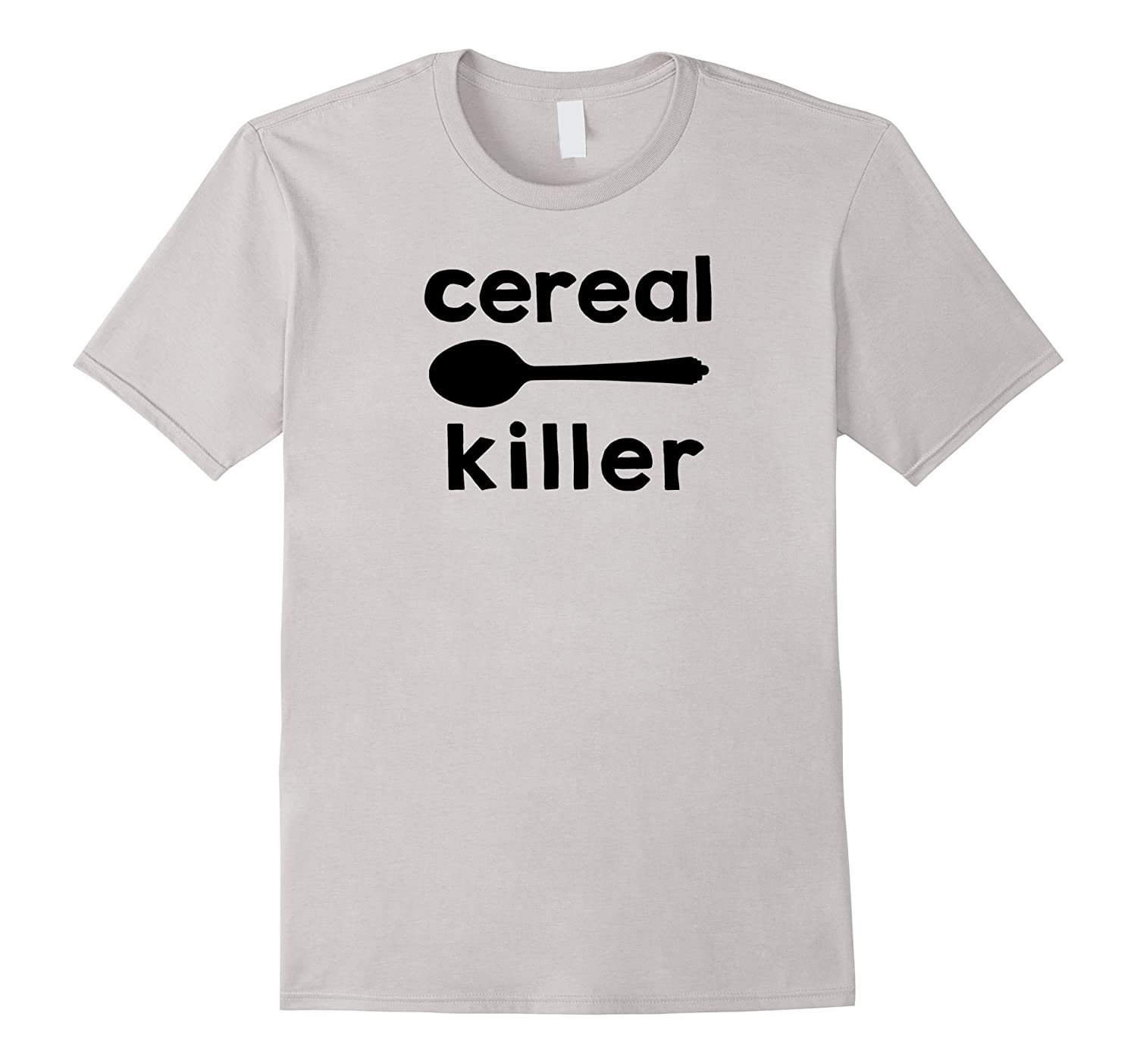 Cereal Killer Funny Cereal Eating Spoon T Shirt Design Cl Colamaga