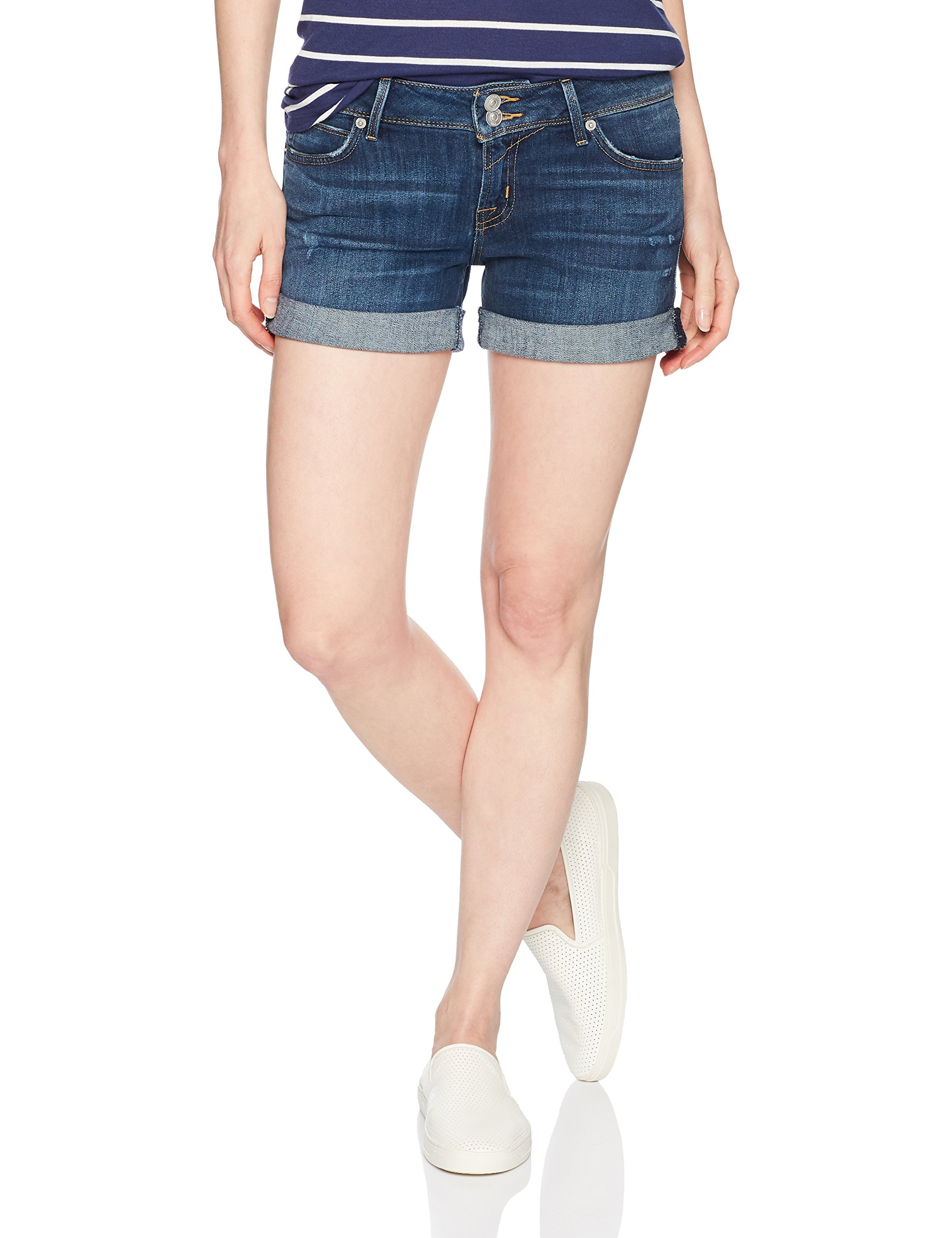 Hudson Jeans Women's Croxley MID Thigh Flap Pocket Jean Short, Double-Deal, 24