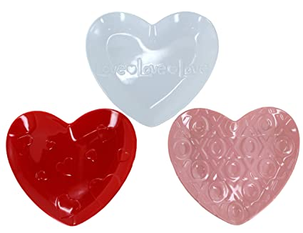 HOLIDAY MARK Melamine Love Heart Plate Set - 3-Piece  sc 1 st  Amazon.com & Amazon.com | HOLIDAY MARK Melamine Love Heart Plate Set - 3-Piece ...