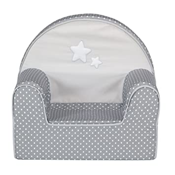 Doux Rêve Fauteuil club gris et blanc pour enfant Gris - Alinea x46 ...