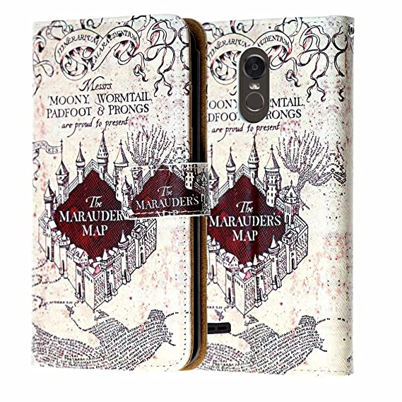 reputable site 8fa02 8ad38 LG Aristo Wallet Case, DURARMOR Harry Potter Hogwarts Marauders Map PU  Leather Folio Wallet Case ID Credit Card Cash Slots Flip Stand Cover for LG  ...