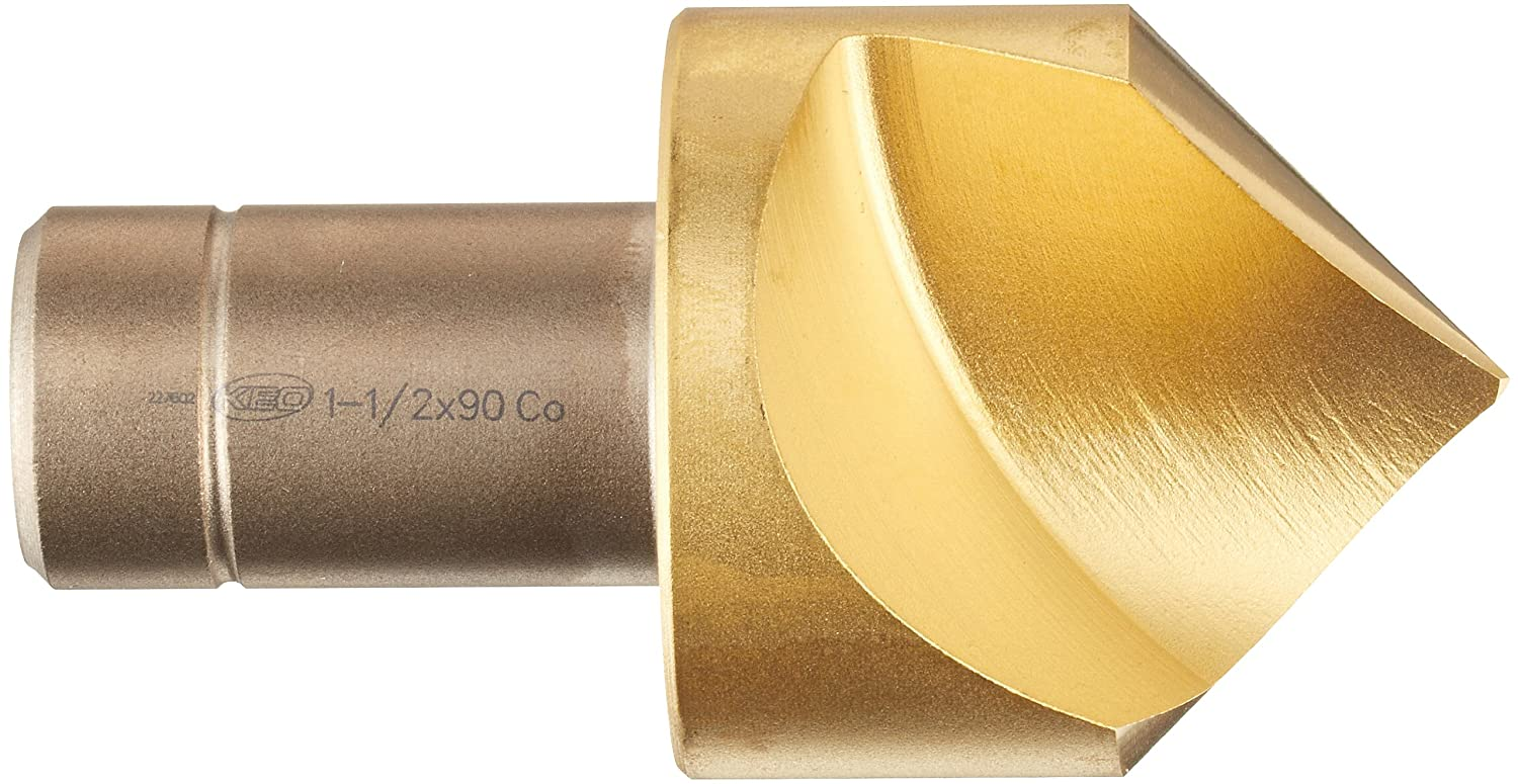 14.00mm Body Diameter Bright 4.00mm Point Diameter Finish Uncoated 60 Degree Point Angle KEO 17414 Cobalt Steel Type B Combined Drill and Countersink Round Shank