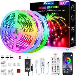 Led Strip Lights 100 Feet, ehomful Color Changing Led Lights for Bedroom,Room and Home Decoration
