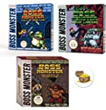 Boss Monster Card Game Expansions Bundle with Implements of Destruction and Crash Landing and Tools of Hero Kind Plus One Treasure Chest Buttons