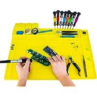 Fstop Labs Anti-Static ESD Safe Magnetic Soldering Mat, Silicone Repair Mat, includes Repair Tools Kit and Anti Static…