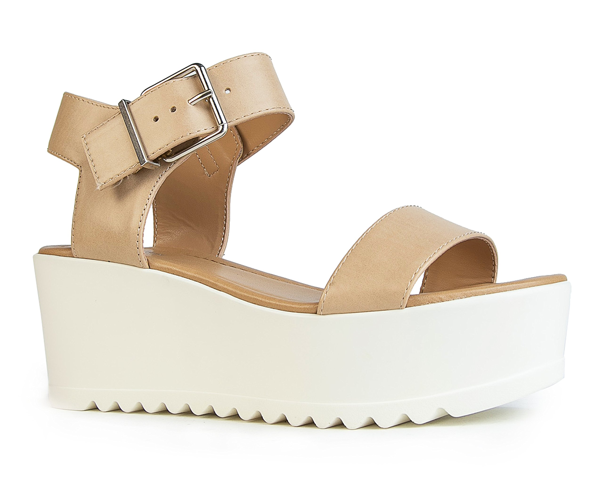 J. Adams Surf Women's Platform Open Toe Buckle Sandal