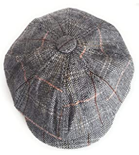 b0bc84bcdb7 The Hat Company  Leo  Bakerboy Brown Check Wool Blend Cap (Small ...