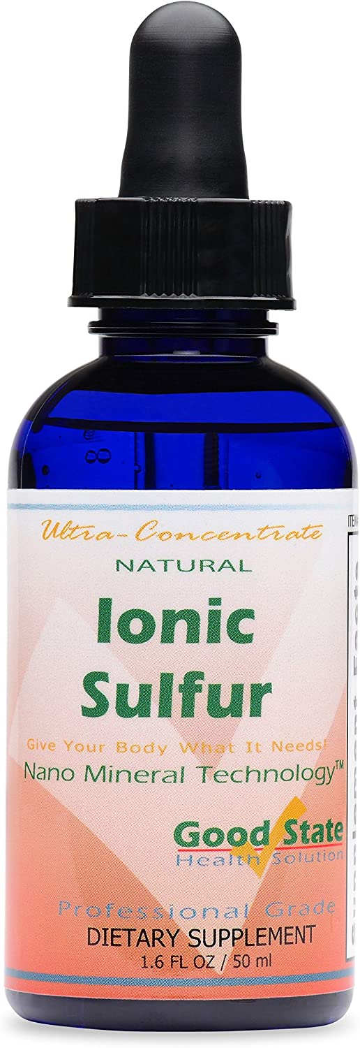 Good State Liquid Ionic Minerals - Sulfur Ultra Concentrate - (10 drops equals 30 mg) (100 servings per bottle)