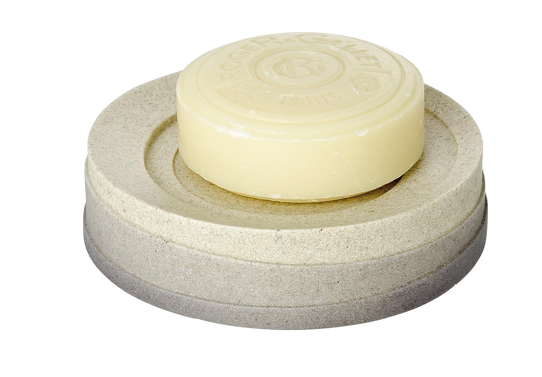 Polyresin Grey WENKO 21292100 Soap dish Cuzco 4.3 x 1.1 x 4.3 inch