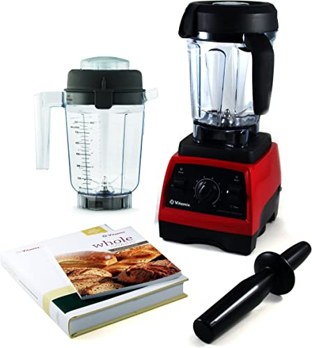 Vitamix Professional Series 300 Ruby Red Blender With Wet Container, Dry Grains Container, and 2 Cookbooks