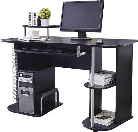 SixBros Computertisch Tisch PC-Tisch Computerschreibtisch Schwarz S-352//2072