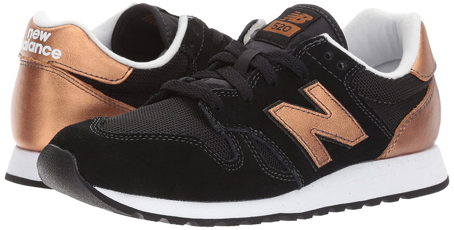 New Balance Women's 520v1 Sneaker B01N43M7UZ 13 B(M) US|Black/Copper