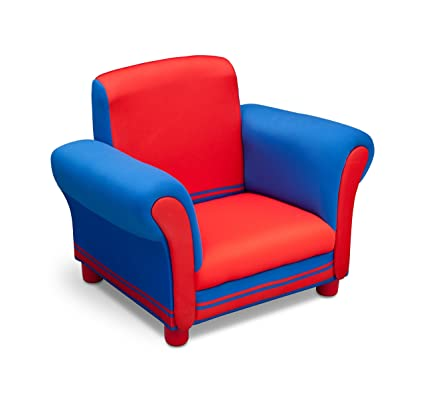 Super Delta Children Childrens Upholstered Chair Blue And Red Pabps2019 Chair Design Images Pabps2019Com