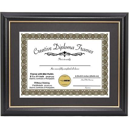 Amazon.com - CreativePF [11x14bk.gd] Black Frame with Gold Rim ...