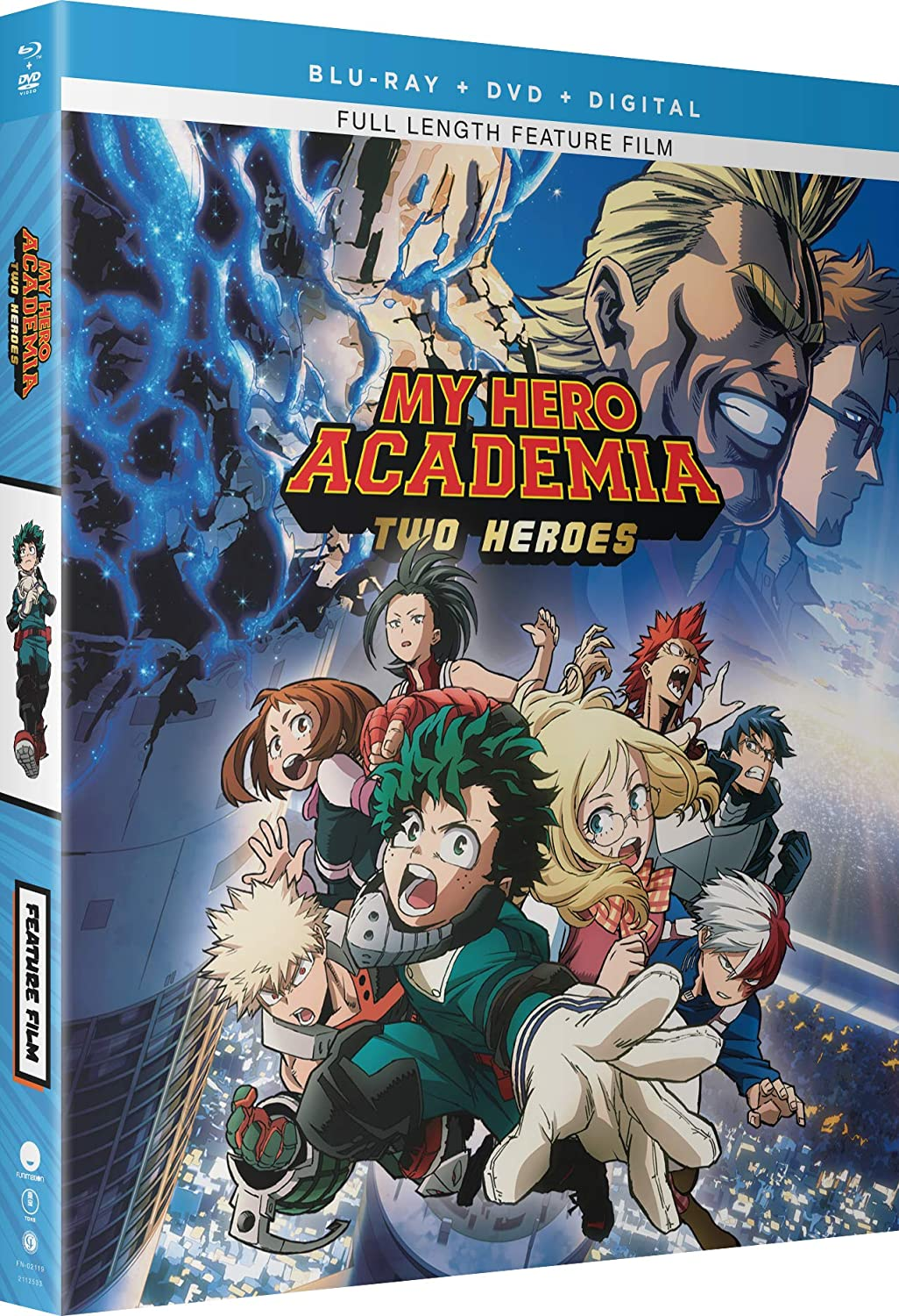 My Hero Academia Two Heroes Blu Ray Blu Ray Christopher R Sabat Justin Briner Luci Christian Clifford Chapin Movies Tv