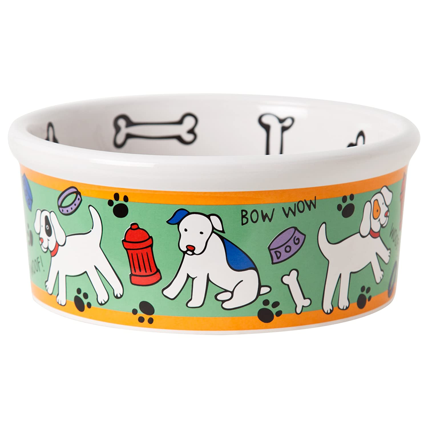 signature housewares spot dog bowl medium