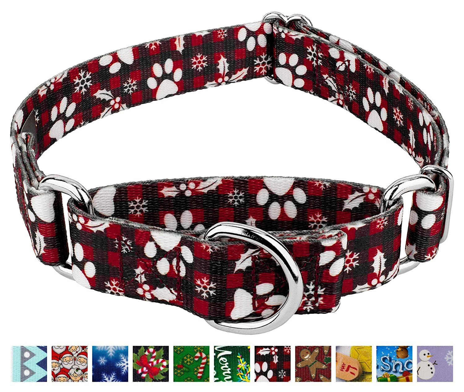 Country Brook Petz Martingale Dog Collar Christmas Collection with 15 Festive Designs