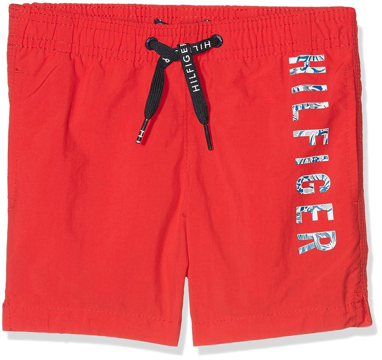 c355d8622 Amazon.com: Tommy Hilfiger Side Logo Print Boys Swim Shorts, Red ...
