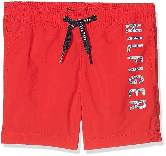 d4d6d14d4 Amazon.com  Tommy Hilfiger Side Logo Print Boys Swim Shorts